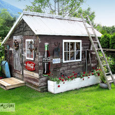 Eclectic Garage And Shed by Funky Junk Interiors