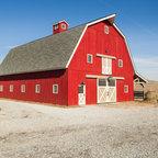 Gambrel Horse Barn In Nebraska Traditional Shed