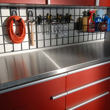 Garage Cabinets & Work Station (Tech-Red Powder Coat)