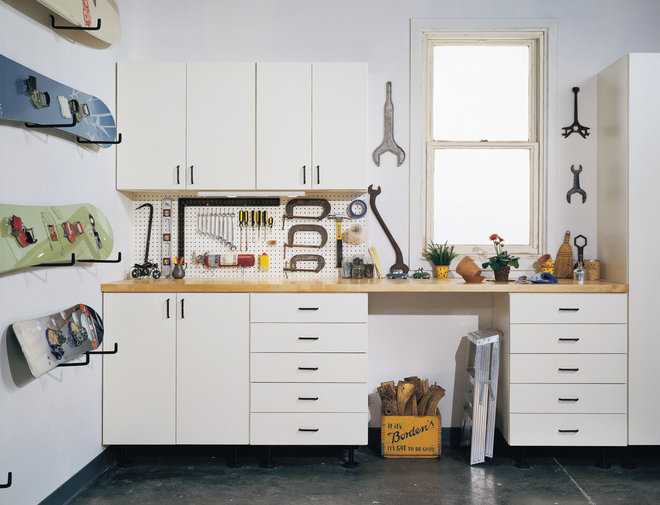 Traditional Garage And Shed by California Closets