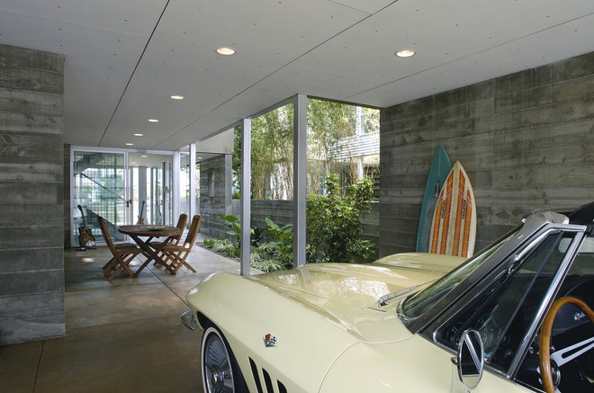 Modern Garage And Shed by Equinox Architecture Inc. - Jim Gelfat