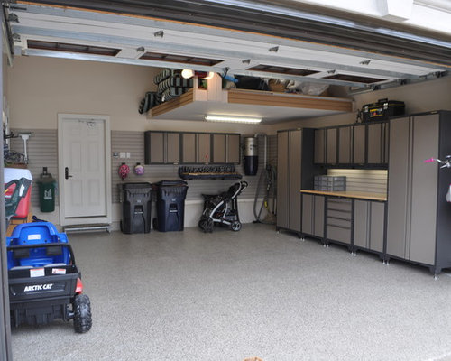Images de d coration et id es d co de maisons garage mezzanine for Garage vestric et candiac