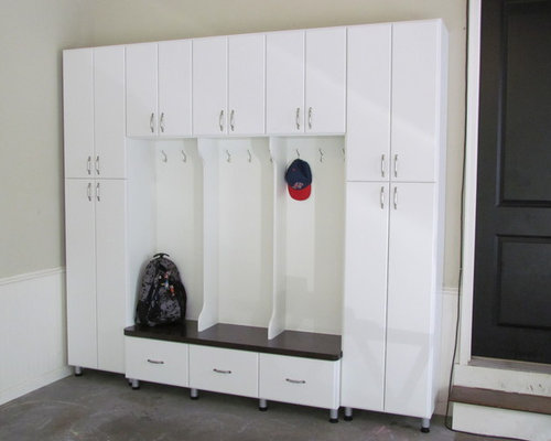 Garage mudroom home design ideas pictures remodel and decor for Garage mudroom