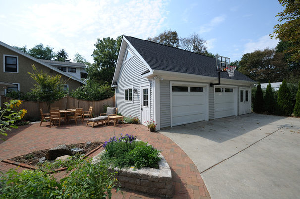 Traditional Garage And Shed by DeHaan Remodeling Specialists, Inc.