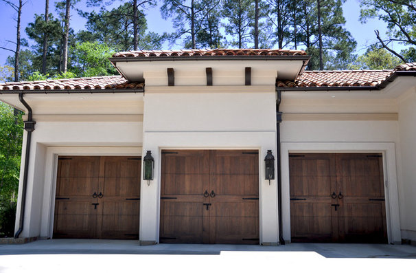 Mediterranean Garage And Shed by Sanders Architecture & Design