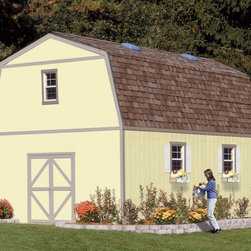 Garage Sheds - Gambrel Style - 16x20  Everest Garage Storage Shed