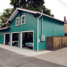 Traditional Garage And Shed by Craftsmen Construction Inc.