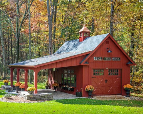 Farmhouse Garage And Shed Design Ideas Pictures Remodel amp Decor