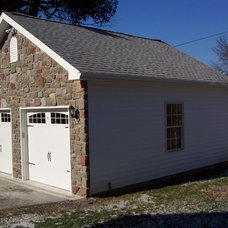 Traditional Garage And Shed by Hellings Builders