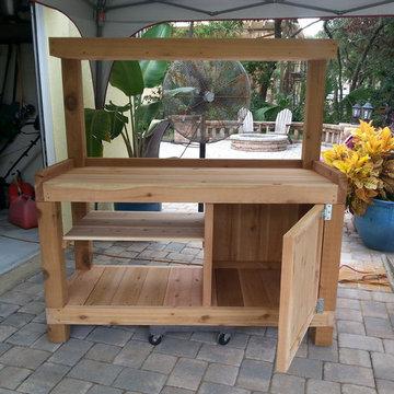 Garden Bench Potting Table