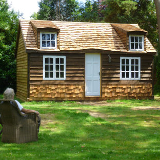 Design ideas for a large rustic garden shed and building in Surrey.