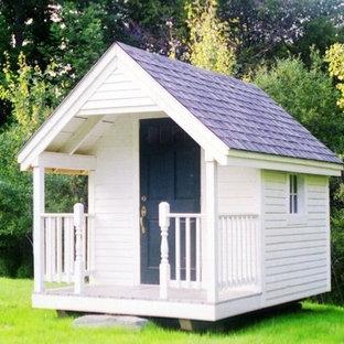 Idee per un piccolo capanno da giardino o per gli attrezzi indipendente vittoriano