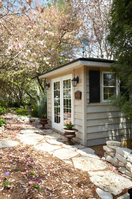 Traditional Garage And Shed by SWEENEY CONSTRUCTION CORPORATION