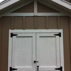 Craftsman Garage And Shed by Backyard Built