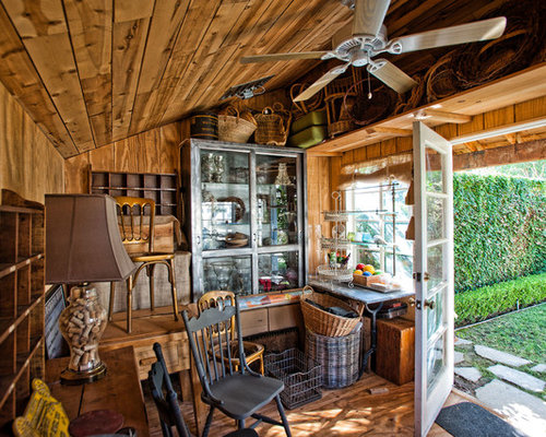 Shed interior home design ideas renovations photos for Shed interior ideas
