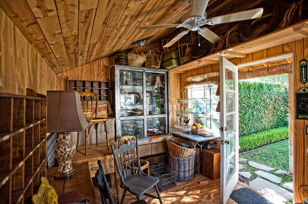 Eclectic Garden Shed and Building by De Bilt