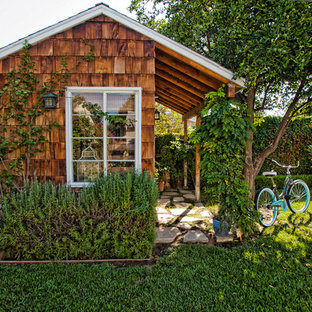 This is an example of a traditional detached shed and granny flat in Los Angeles.