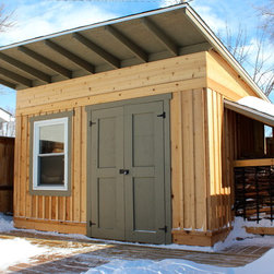 Small craftsman garage and shed design ideas pictures for Craftsman style storage sheds