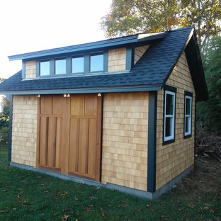 Inspiration for a traditional garden shed and building in Providence.