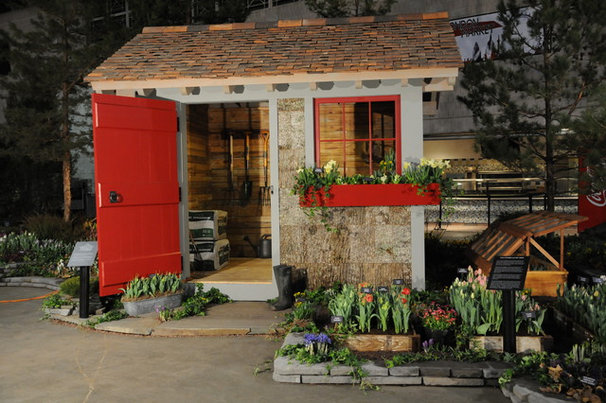 Traditional Garage And Shed by Teracottage-Limited Edition Artisan Sheds & Such
