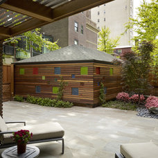 Modern Garage And Shed by Krieger + Associates Architects Inc