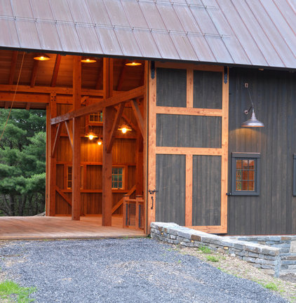 Farmhouse Garage And Shed by Cushman Design Group