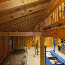 Contemporary Garage And Shed by South County Post & Beam, Inc.