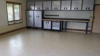 Gladiator Garageworks cabinets and garage floor coating in Vero Beach, Florida
