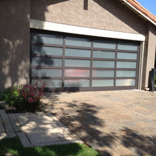 Contemporary Garage And Shed Glass Garage Door
