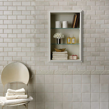 Grazia Melange Wall Tile - Soft Palette and Gentle Shading - Italian Wall Tile