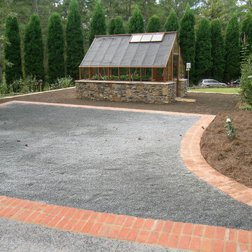 Greenhouse and parking pad