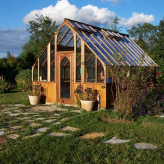 traditional garage and shed Greenhouse