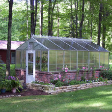 Traditional Garage And Shed by Arcadia GlassHouse