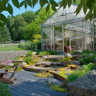 This is an example of an urban garden shed and building in Philadelphia.