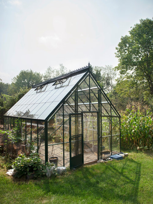 Best glass greenhouse design ideas remodel pictures houzz for Home garden greenhouse design