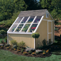 Greenhouse Shed - Gardeners will love this greenhouse shed. Plants might even appreciate this shed even more. You control the amount of light, temperature, water, fertilizer and atmosphere. When no using this structure as a solar building, you can use it for storage! Price subject to change.