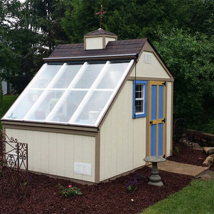 Garden shed - mid-sized contemporary detached garden shed idea in Detroit