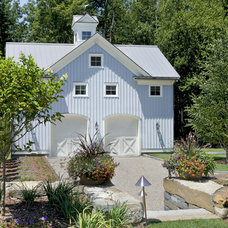 Farmhouse Garage And Shed by Crisp Architects