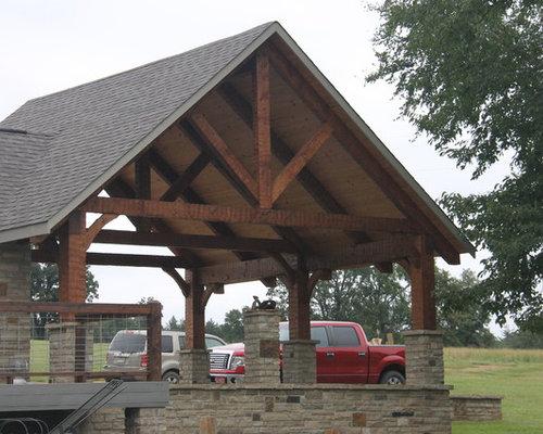 Hand Hewn Timber Frame Carport