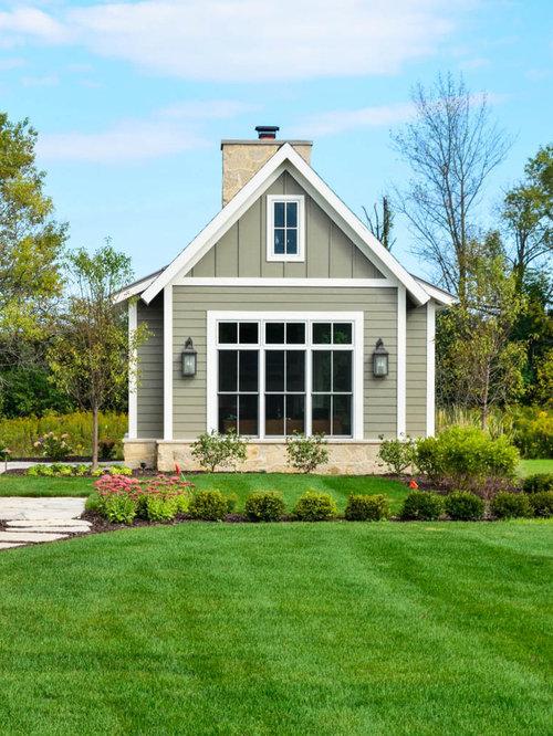 Best green sunroom with a standard fireplace design ideas for Farmhouse sunroom ideas