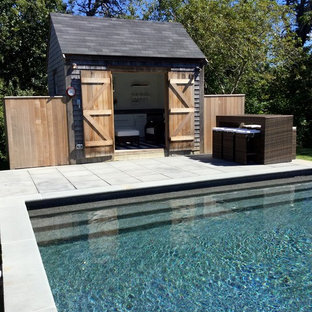 This is an example of a beach style shed and granny flat in Boston.
