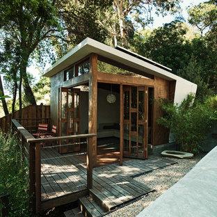 Inspiration för ett retro fristående gästhus
