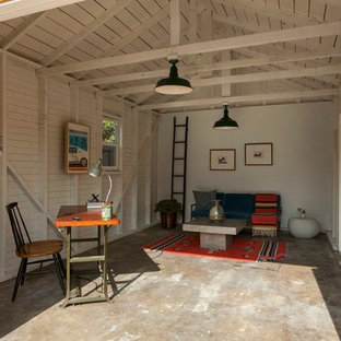 Inspiration for an eclectic shed and granny flat in Los Angeles.