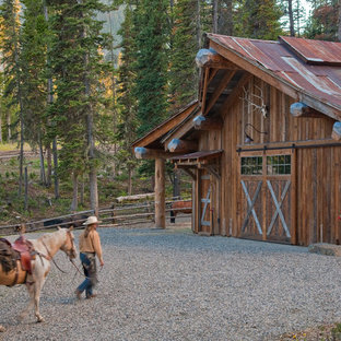Example of a mountain style barn design in Other