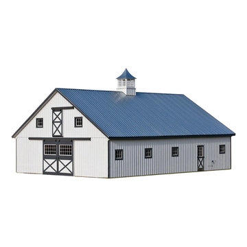 High Country Two Story Large Horse Barn