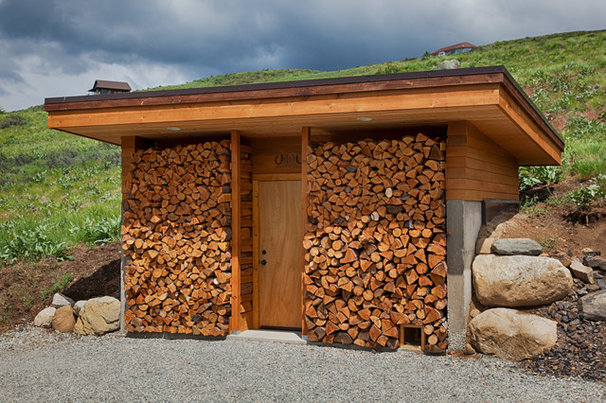 Contemporary Garage And Shed by owFotografik