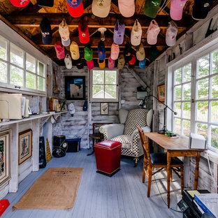 Idéer för ett litet lantligt fristående kontor, studio eller verkstad