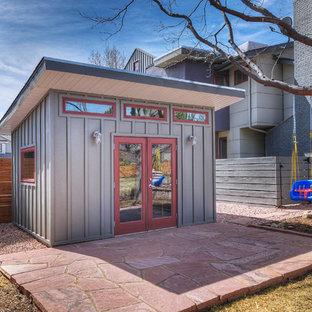 Idee per piccoli garage e rimesse indipendenti design con ufficio, studio o laboratorio