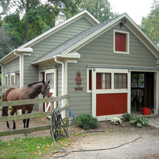 Traditional Garage And Shed by Mainstreet Design Studio, Inc.