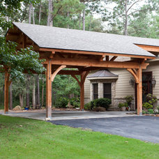 Traditional Garage And Shed by Texas Timber Frames